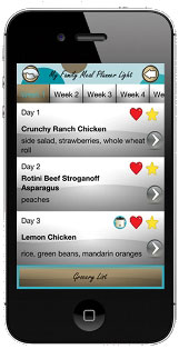 My Family Meal Planner iPhone app